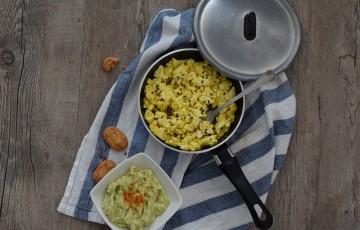 La colazione: Guacamole e tofu strapazzato