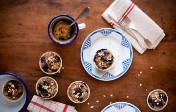 muffins ai mirtilli e sciroppo d'acero