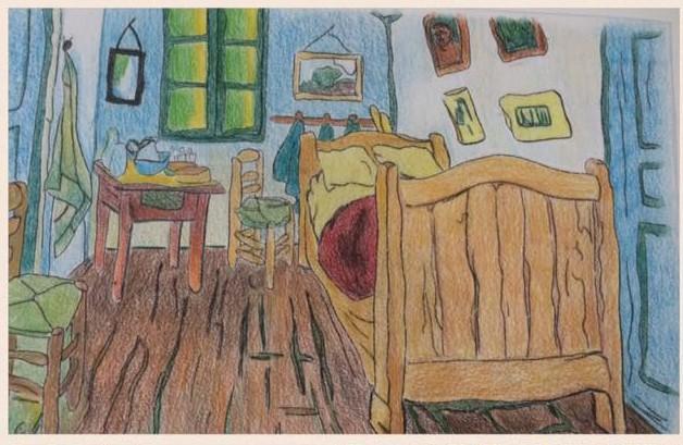 Camera da letto van gogh laboratorio ri produco il mio disegno repubblica scuola il - La camera da letto van gogh ...