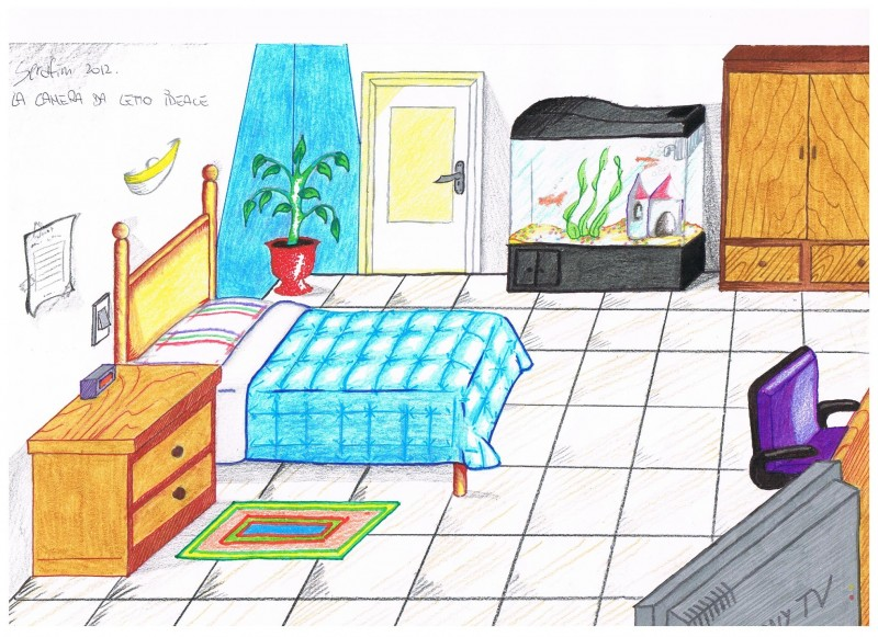Se dovessi cambiare camera da il mio disegno - La mia camera da letto ...