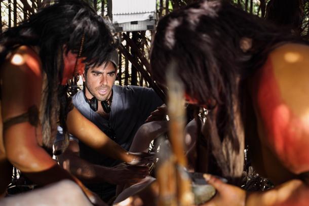 Eli Roth sul set del film