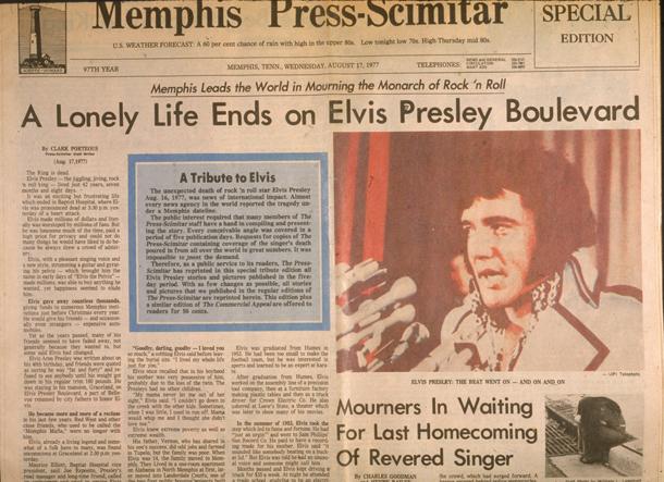 Headlines After Elvis' Death
