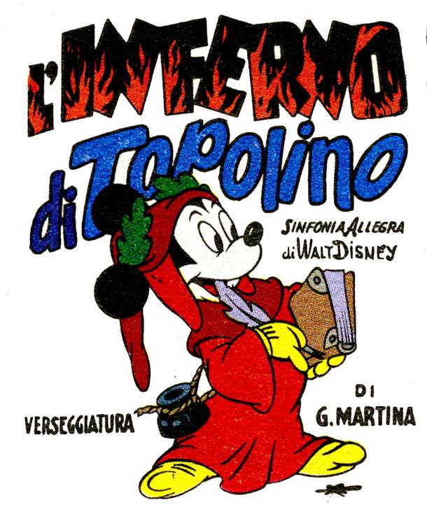 L'Inferno di Topolino, 1949, disegni di Guido Martina