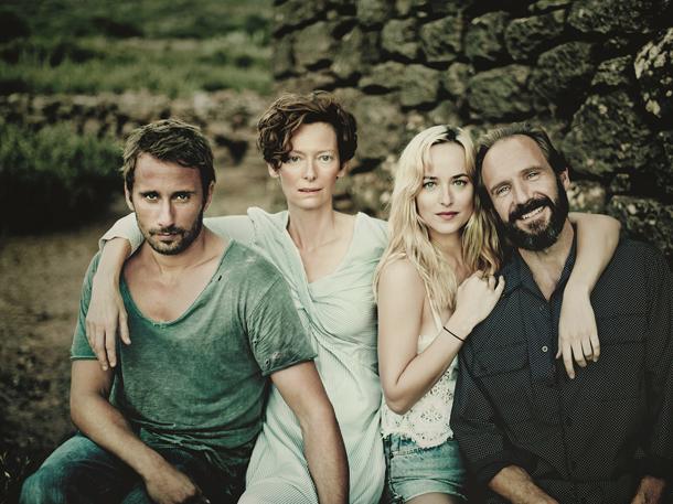 """A Bigger Splash"" di Luca Guadagnino con Tilda Swindon, Ralph Fiennes, Matthias Schoenaerts e Dakota Johnson"