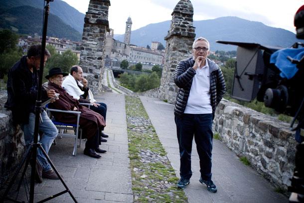 Marco Bellocchio sul set del film