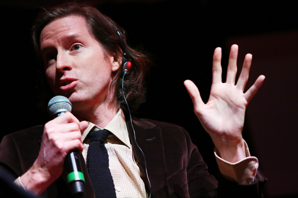 ROME, ITALY - OCTOBER 19: Wes Anderson meets the audience during the 10th Rome Film Fest at Auditorium Parco Della Musica on October 19, 2015 in Rome, Italy. (Photo by Ernesto Ruscio/Getty Images) *** Local Caption *** Wes Anderson