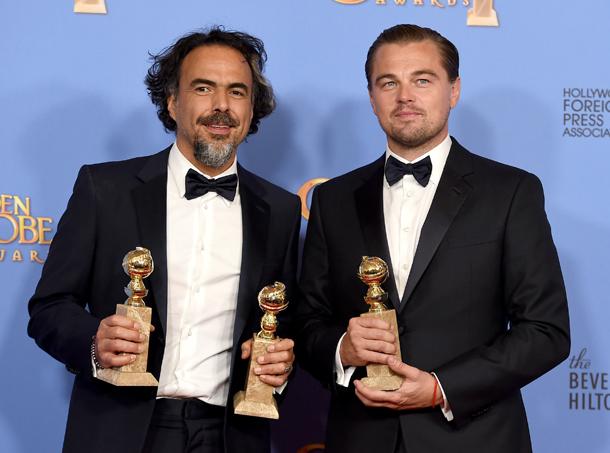 Alejandro Gonzalez Inarritu e Leonardo DiCaprio © Jordan Strauss/Invision/AP)