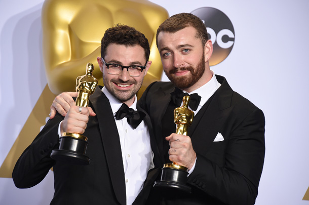 Jimmy Napes e Sam Smith © Jordan Strauss/Invision/AP