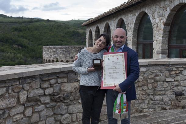 Alice Pasquini e il Sindaco Paolo Manuele © Alessia DiRisio