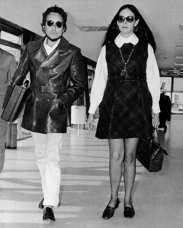 Bob Dylan e sua moglie Sara © AP Photo