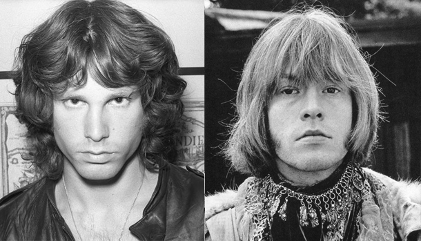 Jim Morrison e Brian Jones