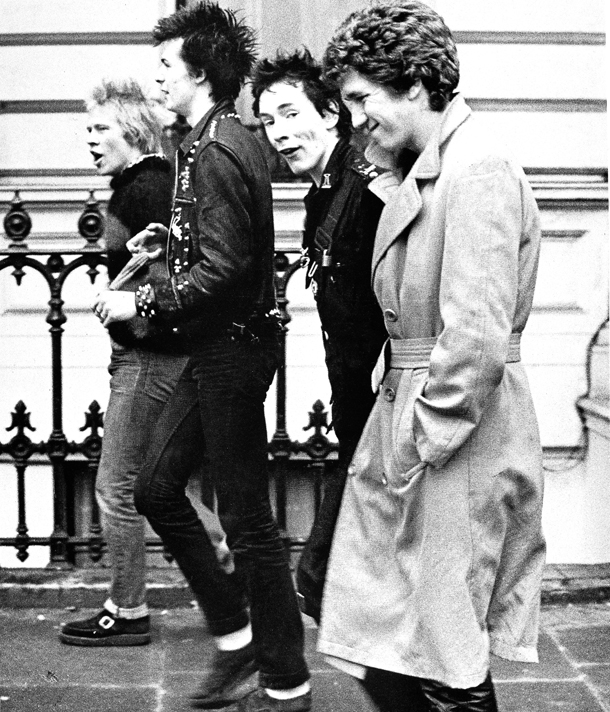 Sex Pistols 1977. Da sin.; Paul Cook, Sid Vicious, Johnny Rotten and Steve Jones © AP Photo