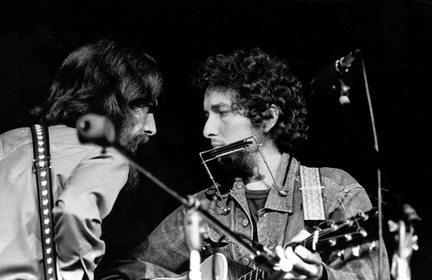 George Harrison e Bob Dylan a New York, 1971 © Foto AP