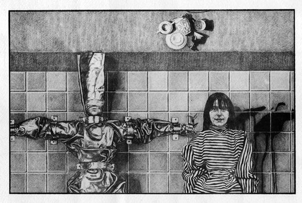 """Litografia originale di Enrico Piva del 1982, utilizzata dai Nurse With Wound per la grafica di """"Homotopy To Marie"""""""