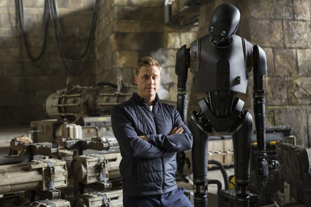 "Alan Tudyk sul set di ""Rogue One"""