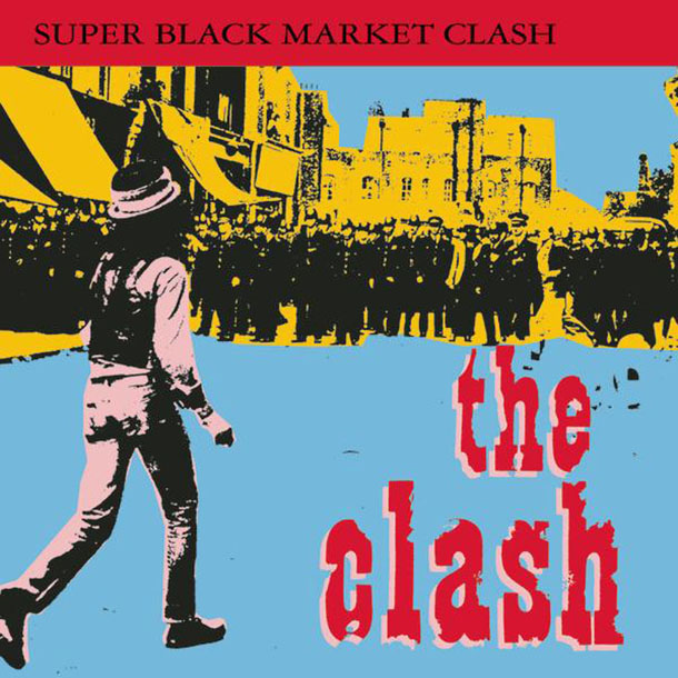 "La copertina dell'album dei Clash ""Super Black Market Clash"", 1993"