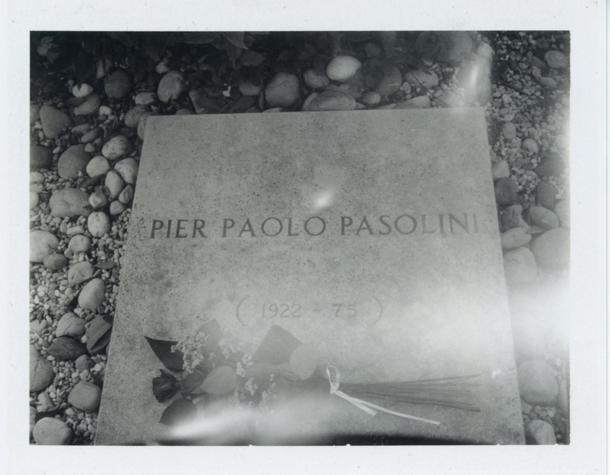 Patti Smith, Pier Paolo Pasolini's grave, Giulia, Italy, 2015
