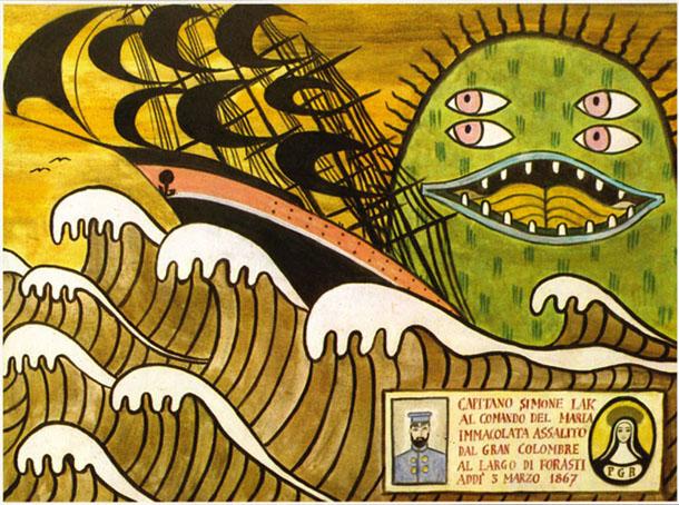 Dino Buzzati, Il Colombre, illustrazione 1970