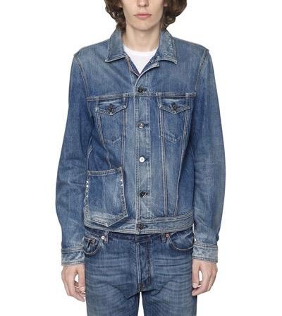 10) Valentino giacca denim su denim