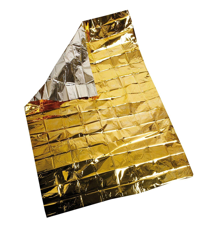 1) Coperta emergenza multiuso oro freddo - argento caldo- antivento 81jCrNSsuXL._SL1500_