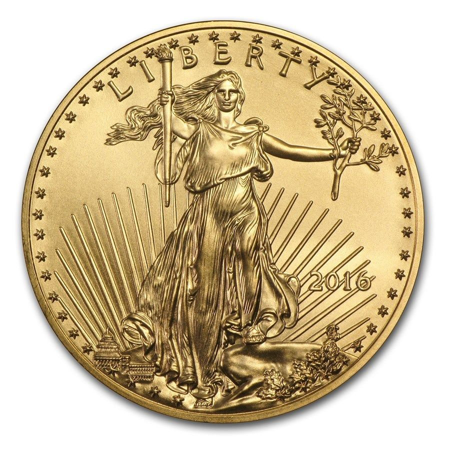 6) Monete dÔÇÖoro 37 - 1oz 2016 American Gold Eagle Bullion