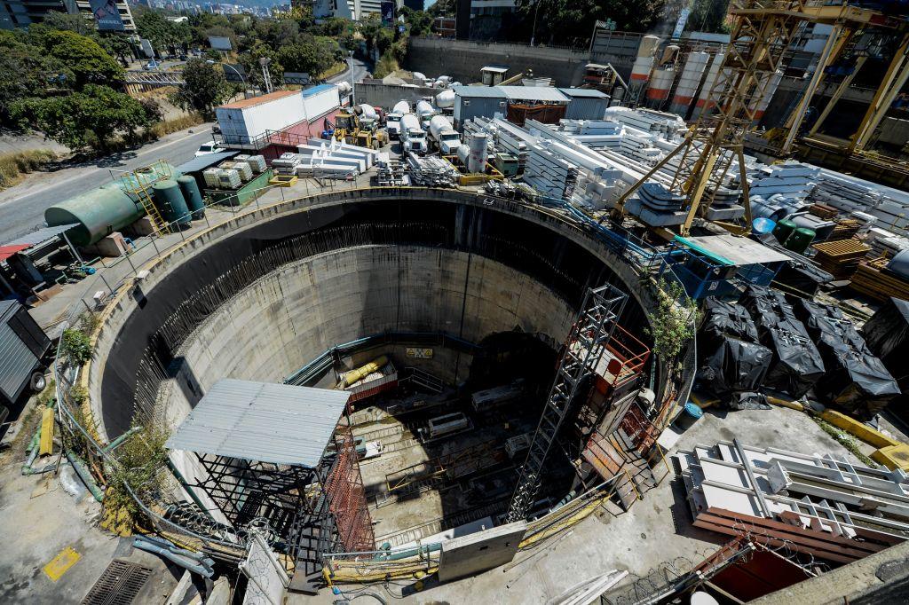 I lavori della metropolitana di Caracas, in Venezuela, uno degli appalti vinti da Odebrecht a suon di tangenti. Federico Parra/AFP/Getty Images