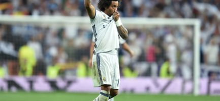 Marcelo bacia la maglia del Real Madrid dopo un gol. Christof Stache/AFP/Getty Images