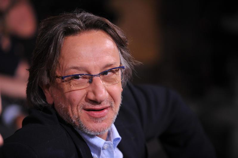 Trasmissione Ballaro', nella foto l'economista Michele Boldrin. (Mimmo Chianura / AGF)
