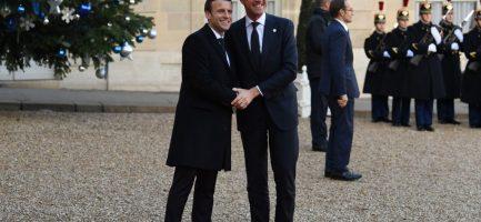 Il Presidente francese Emmanuel Macron e il Primo ministro olandese Mark Rutte. Alain Jocard/AFP/Getty Images