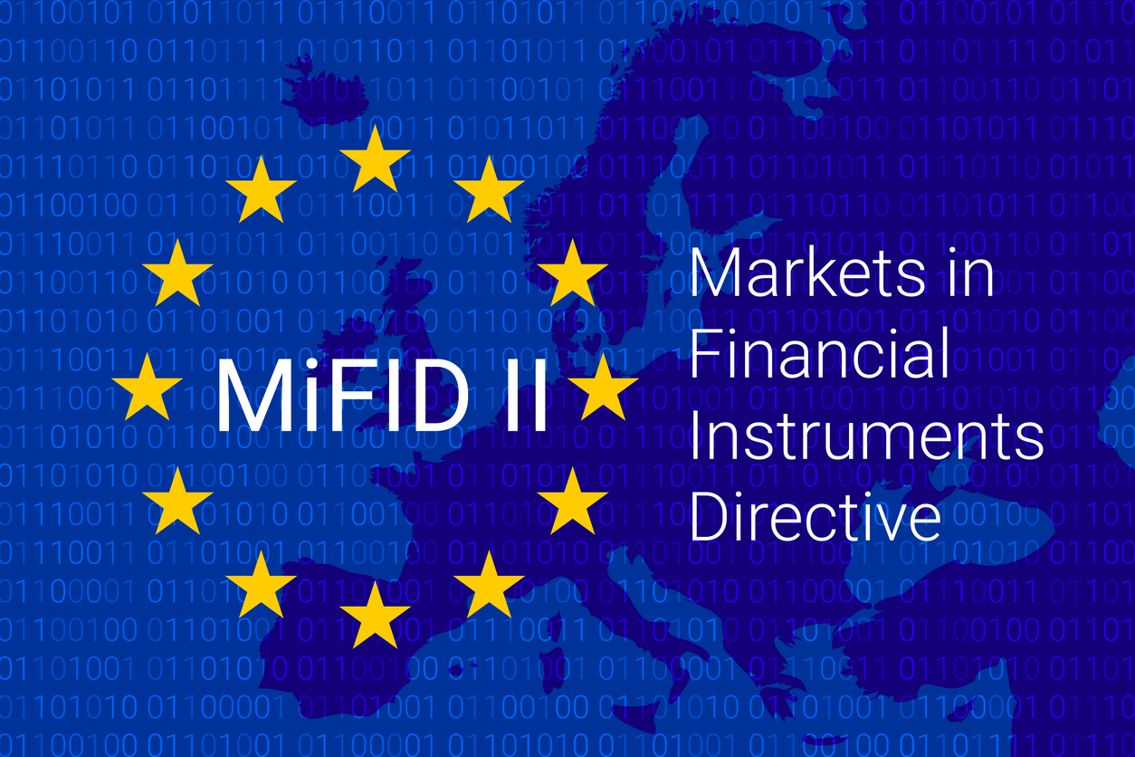 Markets in Financial Instruments Directive - MiFID II. vector illustration
