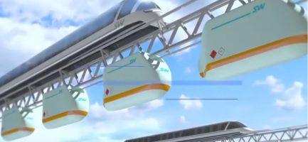 Screenshot di un rendering pubblicitario di SkyWay. YouTube