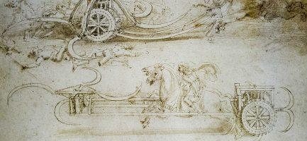 Dettaglio di un disegno di Leonardo da Vinci. Marco Secchi/Getty Images