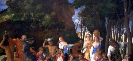 Il festino degli dei, di Giovanni Bellini, Tiziano e Dosso Dossi (1514, National Gallery of Art, Washington). Wikipedia