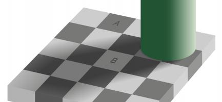 I due quadrati A e B sono di due colori diversi, giusto? Wikipedia