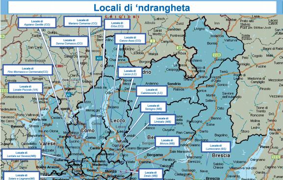 Cartina Dati Lombardia.Allarme Dia In Lombardia La Ndrangheta Prospera Oltre 30 I Clan