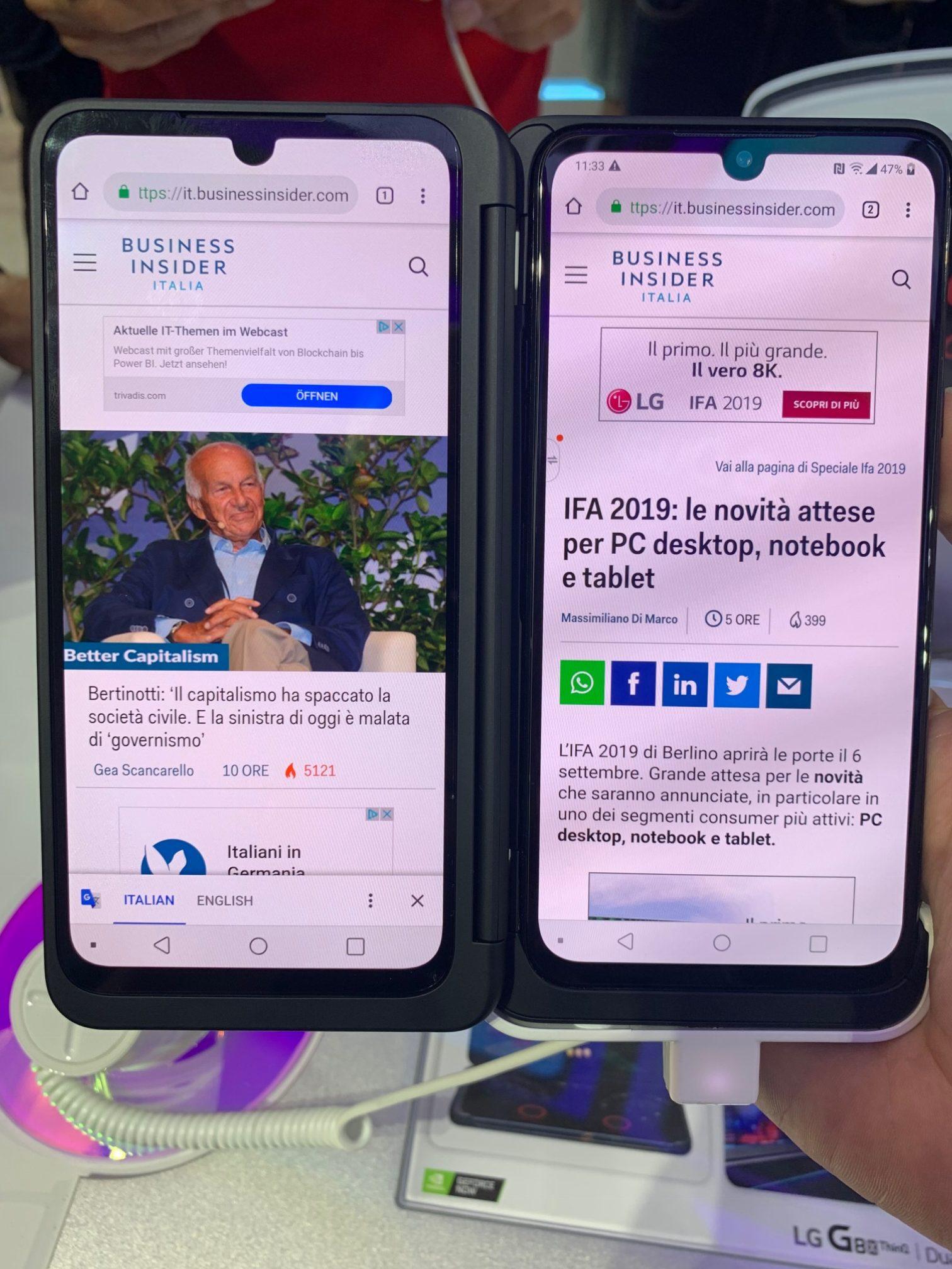 LG G8X Dual Screen ok 2 - Foto di Alessio Caprodossi
