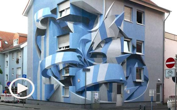 """Le incredibili case in """"3D"""" di Peeta, lo street artist dell'anaformismo"""
