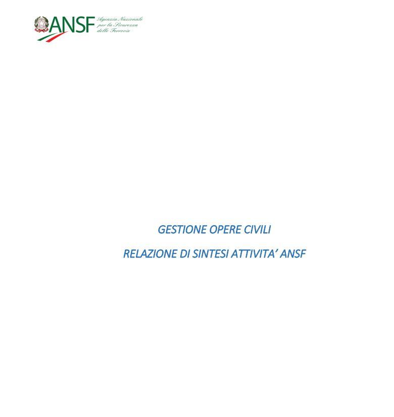 Ansf relazione opere civile 1