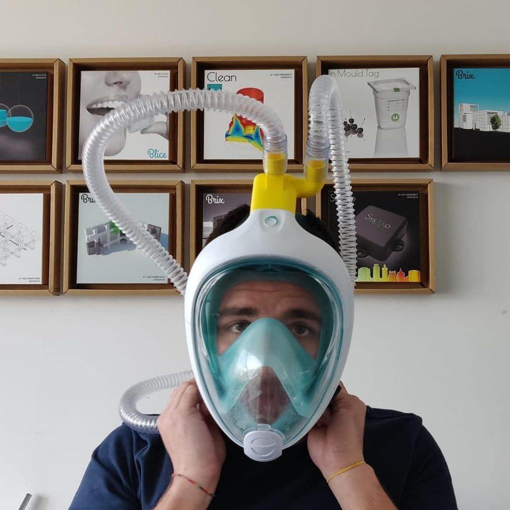 maschera respiratore ossigeno