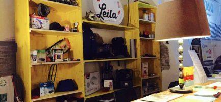 Gli scaffali di Leila a bologna, la prima Biblioteca delle Cose italiana.