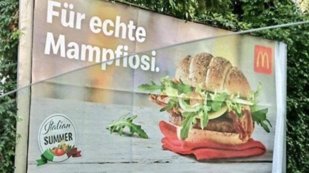 Scrrenshot campagna McDonal's Austria