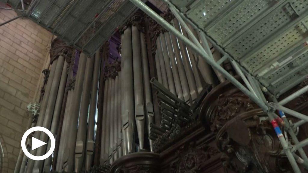 Notre Dame: iniziati i lavori di recupero dell'organo danneggiato dall'incendio