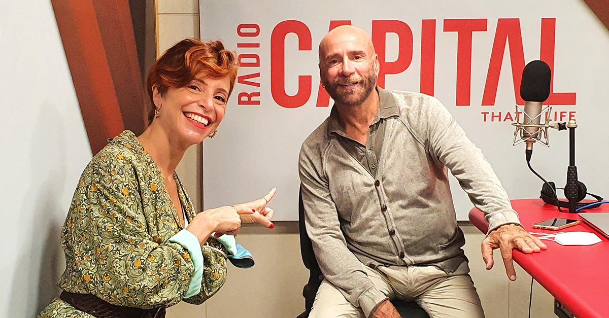 Mario Venuti e Betty Senatore negli studi di Radio Capital