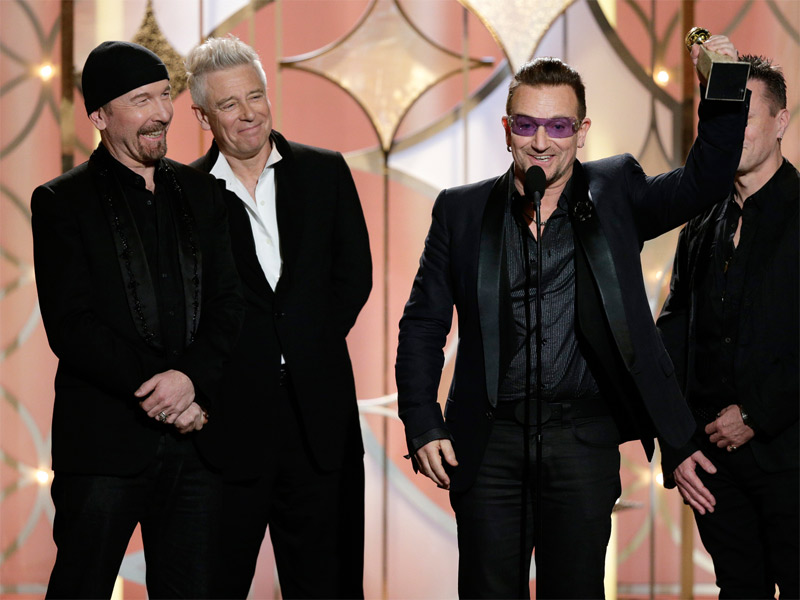 "Golden Globe, Bono ricorda Mandela, ""Ha scelto l'amore"""