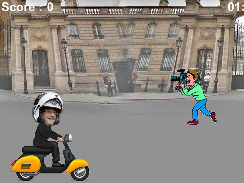 Hollande, lo scandalo diventa un videogioco