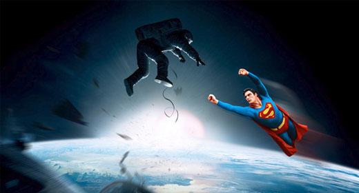 La parodia di Gravity: Superman salva Sandra Bullock