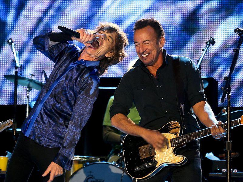 A tutto rock: sul palco con gli Stones c'è il Boss