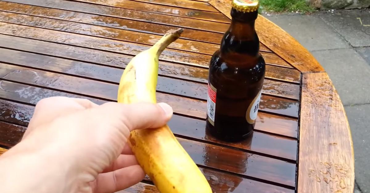 Come aprire una birra con una banana: il tutorial definitivo