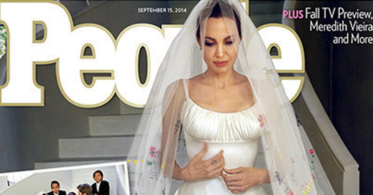 Angelina Jolie in abito da sposa su People