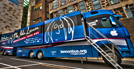 Il John Lennon Educational Tour Bus arriva in Italia per la prima volta